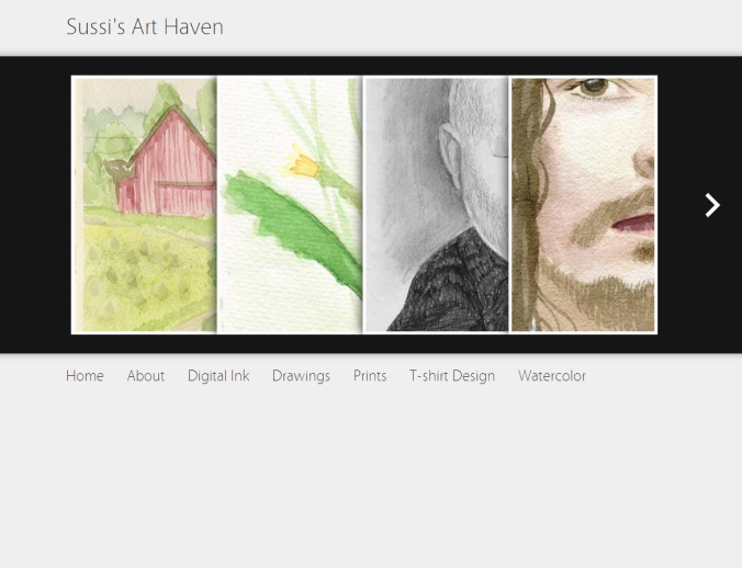 Screenshot of sussijohansson.com