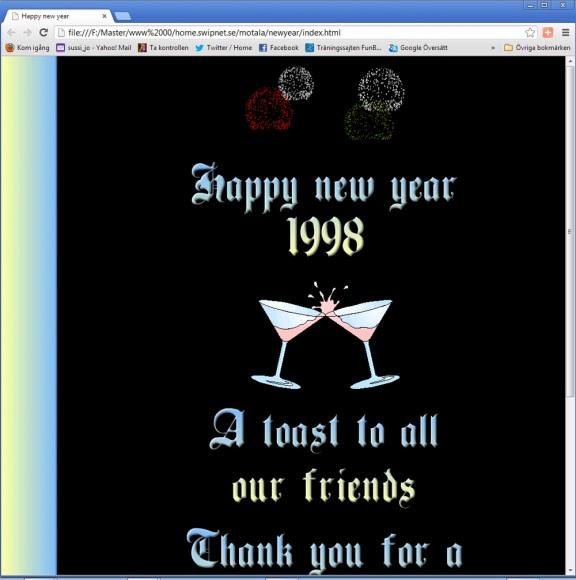 Nyårshälsning 1998