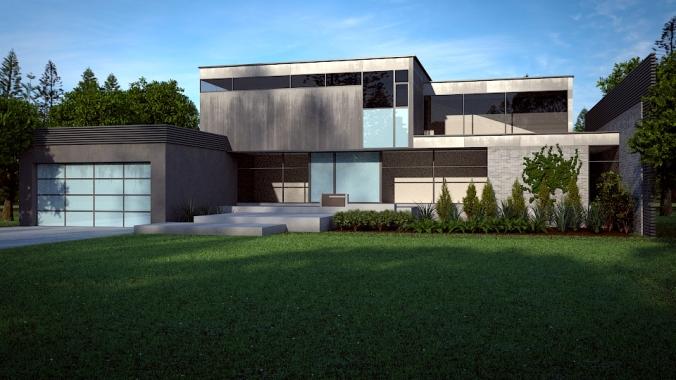 Modernt hus: slutrendering